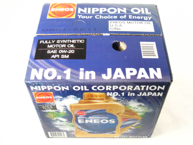 Eneos engine oil 1 engine oil in japan unofficial for What motor oil do i need